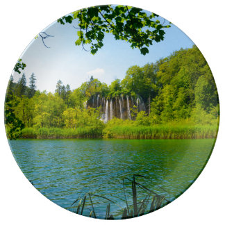Plitvice Lakes National Park in Croatia Plate