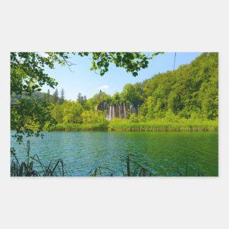 Plitvice Lakes National Park in Croatia Rectangular Sticker