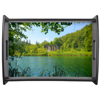 Plitvice Lakes National Park in Croatia Serving Tray