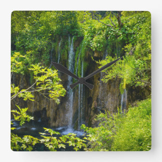 Plitvice Lakes National Park in Croatia Square Wall Clock