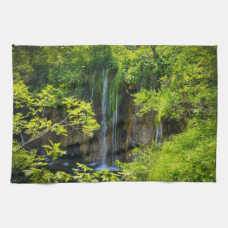 Plitvice Lakes National Park in Croatia Tea Towel