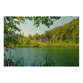 Plitvice Lakes National Park in Croatia Wood Print