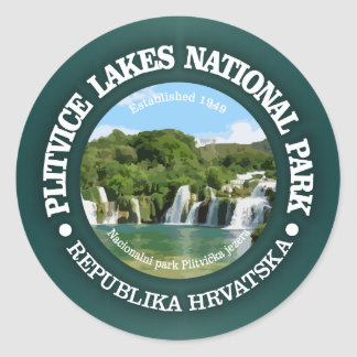 Plitvice Lakes NP Classic Round Sticker