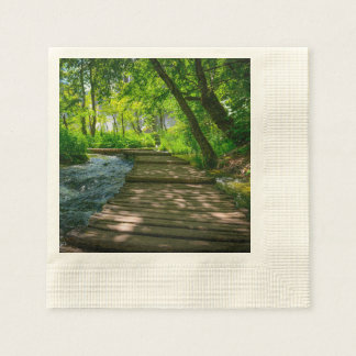 Plitvice National Park in Croatia Disposable Napkins