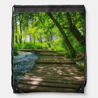 Plitvice National Park in Croatia Drawstring Bag