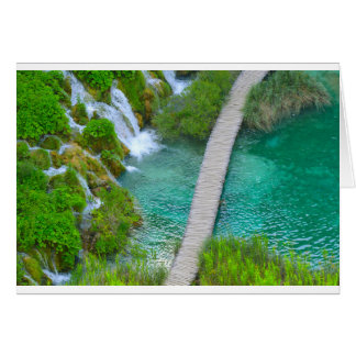 Plitvice National Park in Croatia Hiking Trails Card