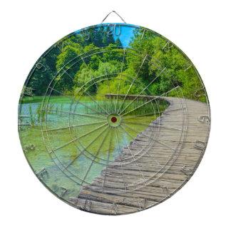 Plitvice National Park in Croatia Hiking Trails Dartboard