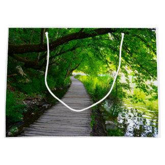 Plitvice National Park in Croatia Hiking Trails Large Gift Bag