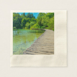 Plitvice National Park in Croatia Hiking Trails Paper Napkin