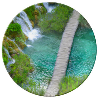 Plitvice National Park in Croatia Hiking Trails Plate