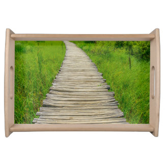 Plitvice National Park in Croatia Hiking Trails Serving Tray