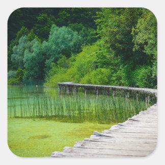 Plitvice National Park in Croatia Hiking Trails Square Sticker