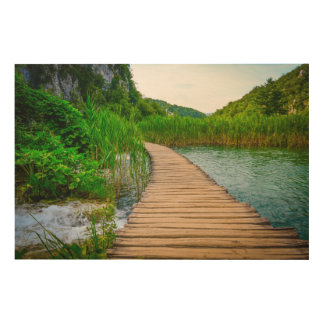 Plitvice National Park in Croatia Hiking Trails Wood Wall Art