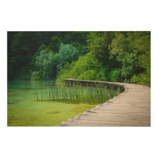 Plitvice National Park in Croatia Hiking Trails Wood Wall Decor