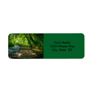 Plitvice National Park Return Address Label