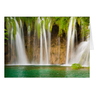 Plitvice Waterfall Card