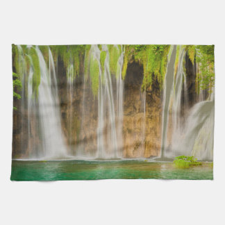Plitvice Waterfall Tea Towel