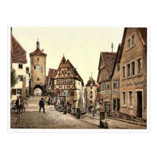Ploenlein, Rothenburg (i.e. ob der Tauber), Bavari Postcard