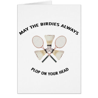 Plop on Your Head Badminton Card