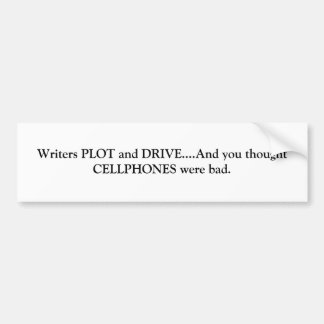 Plot and Drive Bumper Sticker