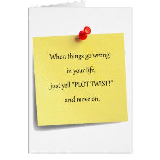 Plot Twist Post-it Greeting Card