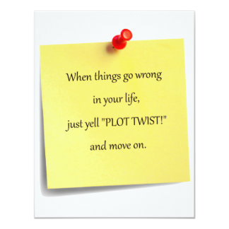 Plot Twist Post-it Invitation