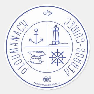 Ploumanach Perros-Guirec Classic Round Sticker
