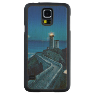 Plouzane, France, Lighthouse Carved Maple Galaxy S5 Case