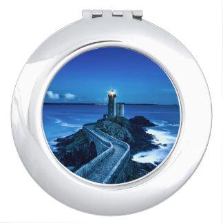 Plouzane, France - Lighthouse Compact Mirror