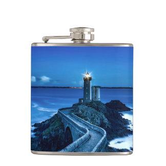 Plouzane, France - Lighthouse Hip Flask