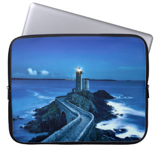 Plouzane, France - Lighthouse Laptop Sleeve