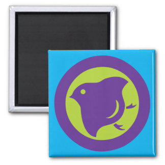 Plover (cool colours) square magnet