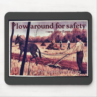 Plow Around For Safety Mousepads