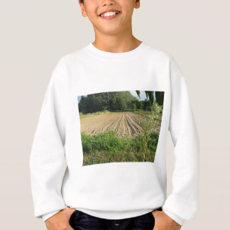 Plowed field in the late afternoon in Tuscany Sweatshirt