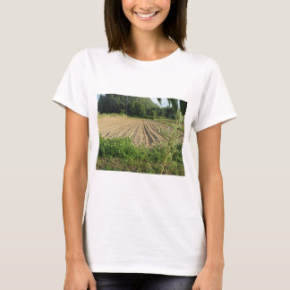 Plowed field in the late afternoon in Tuscany T-Shirt