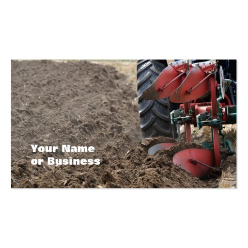 Plowing ploughing business card