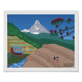 Plowing with Oxen Nepal Posters