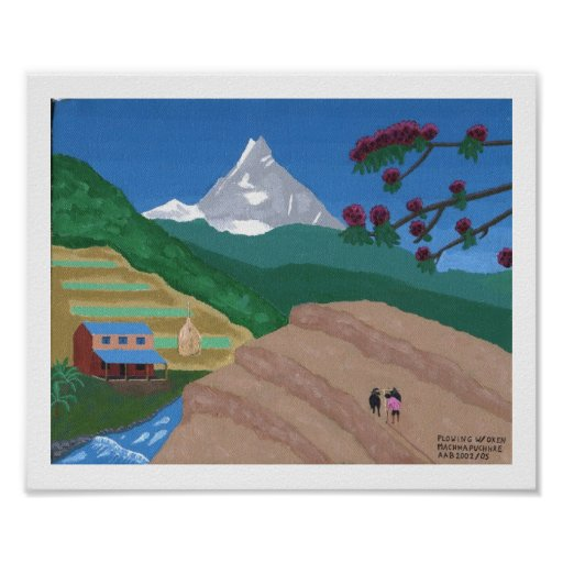 Plowing with Oxen, Nepal Posters