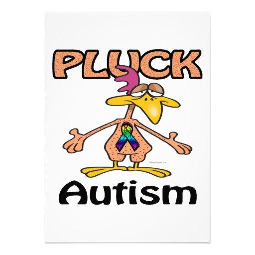 Pluck Autism Awareness Design Custom Announcement