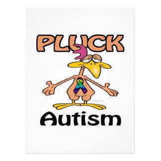 Pluck Autism Awareness Design Invites