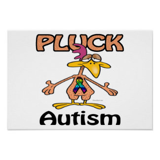 Pluck Autism Awareness Design Poster