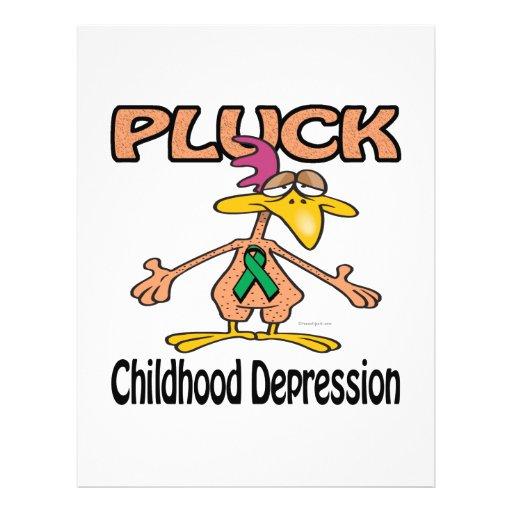 Pluck Childhood Depression Awareness Design Flyer