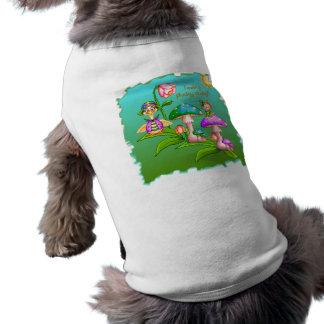 Plucky Ducks Pixel Art Sleeveless Dog Shirt