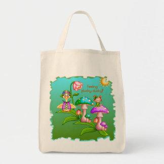 Plucky Ducks Pixel Art Grocery Tote Bag