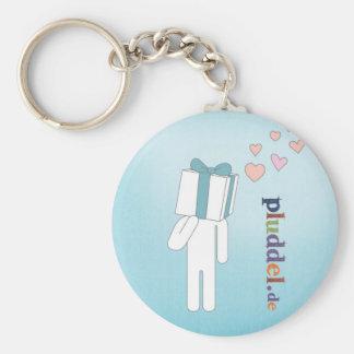 pluddel schlüsselanhänger heart key ring