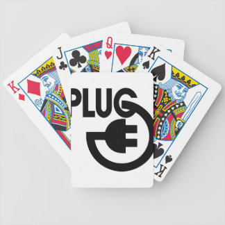 plug bicycle playing cards