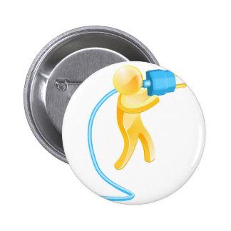 Plug gold person badges