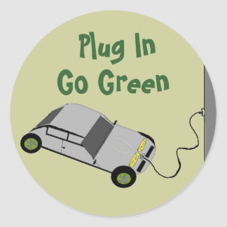 Plug In, Go Green - stickers