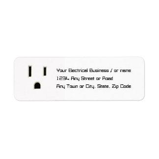 Plug in label return address label