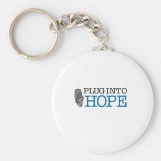 Plug into Hope Key Chain